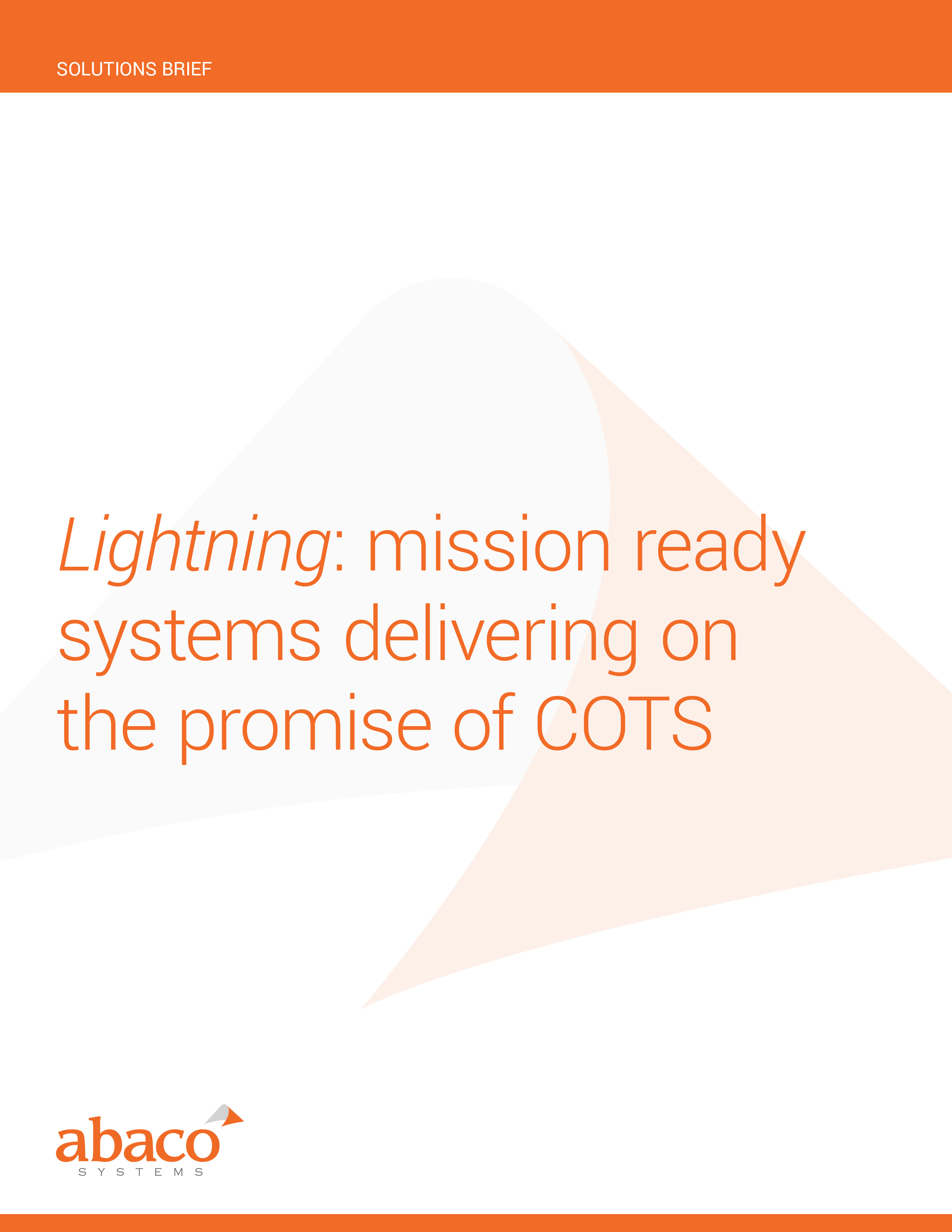 Lightning: mission ready systems