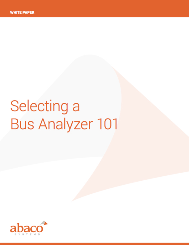 Selecting a Bus Analyzer 101
