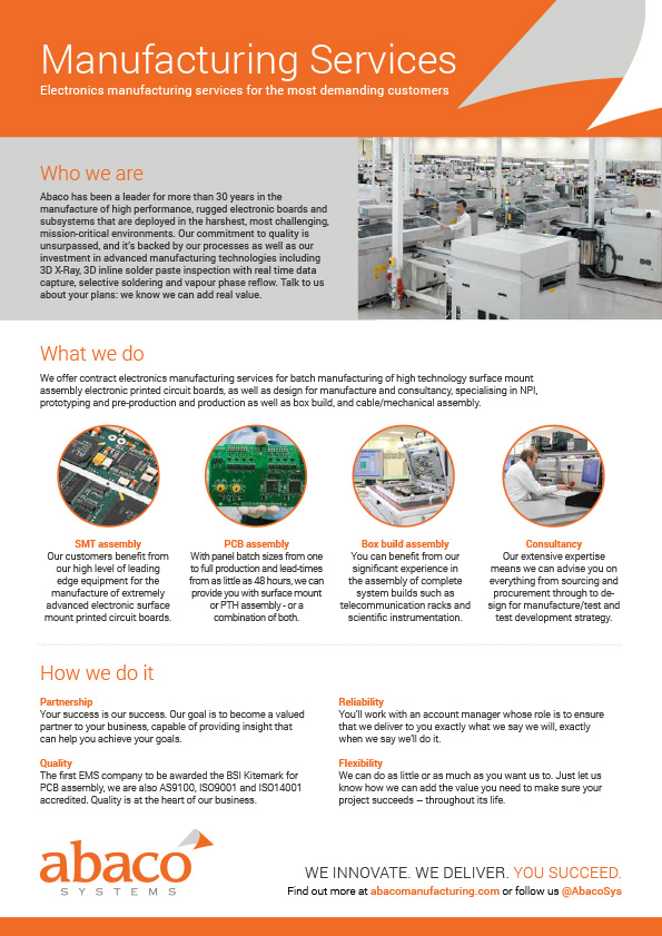 Manufacturing | Abaco Systems