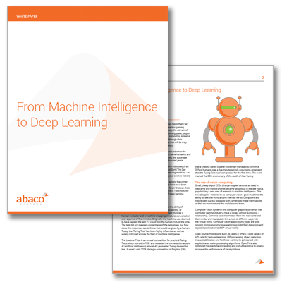 From Machine Intelligence to Deep Learning